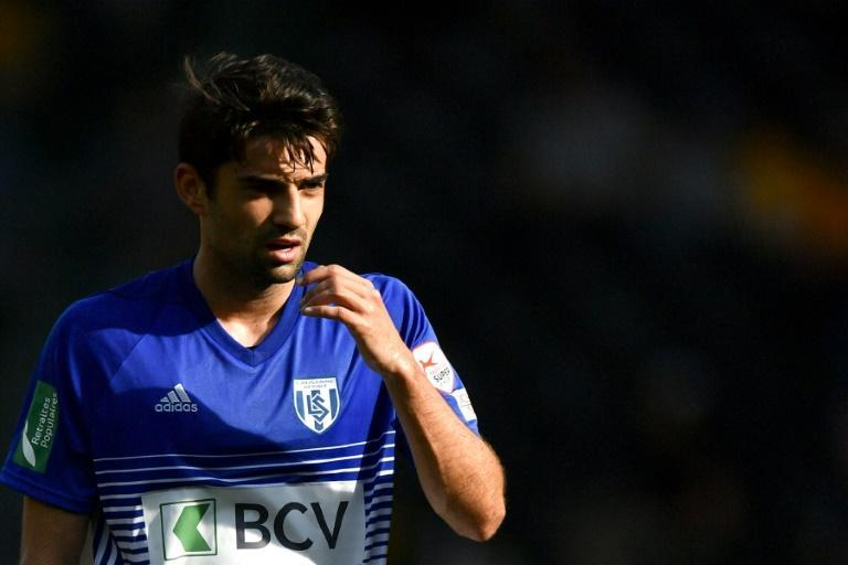 Enzo Zidane, seen here playing for Lausanne, is reportedly on the verge of joining German second divison side Erzgebirge Aue