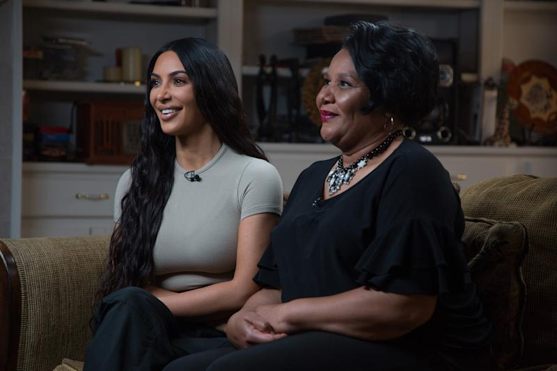 TODAY -- Pictured: Kim Kardashian West and Alice Johnson on Wednesday June 13, 2018 -- (Photo by: Nathan Congleton/NBC/NBCU Photo Bank via Getty Images)