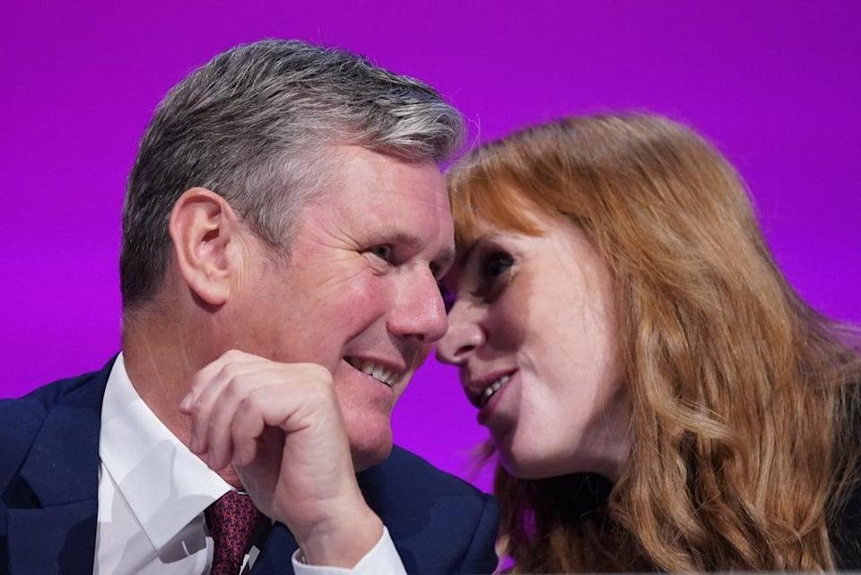 Sir Keir Starmer and Angela Rayner at the Labour Party conference in Brighton (Stefan Rousseau/PA) (PA Wire)
