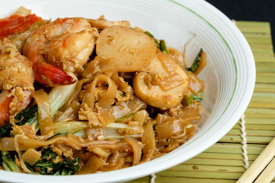 Char Kuay Teow, aka stir fried flat rice noodle, which is famous among Indonesians, Malaysians and Singaporeans.