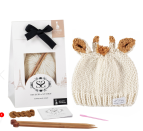 """<p><a class=""""link rapid-noclick-resp"""" href=""""https://www.stitchandstory.com/products/sophie-la-girafe-sophies-hat-knitting-kit?variant=47506425732&gclid=Cj0KCQjwjcfzBRCHARIsAO-1_Oq2lcoMxdqHHzCSgYI_kCSnjQzEdSS4Q6SX_CtUxUo09VfrIQ_4Bu0aAkvyEALw_wcB"""" rel=""""nofollow noopener"""" target=""""_blank"""" data-ylk=""""slk:BUY NOW"""">BUY NOW</a> <strong>£26, Stitch and Story </strong></p><p>Stitch and Story has teamed up with global baby brand Sophie la girafe, universally loved by parents and children, to create exclusive knitting kits using superfine merino baby yarns.<br></p><p><strong>What's in the kit:</strong> Pattern for babies aged 0 - 3 months, 3 - 12 months and 12 - 24 months. 1 x 50g S&S The Lil' Merino Wool (100% superfine merino wool)1 x 10g S&S The Lil' Merino Wool (For ears and horn), pair of 5mm bamboo knitting needles short (25cm), Sophie's Hat pattern, Sophie la girafe woven label, sewing needle and basic knitting instructions. </p><p><strong>Best for:</strong> Ideal for a beginner. The kits contain everything you need to get started and learn the basic techniques – including how to cast on, knit, purl, cast off, and sewing.</p><p><strong><br></strong></p>"""