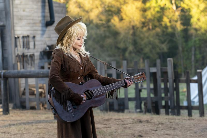 Dolly Parton in Heartstrings, now streaming on Netflix