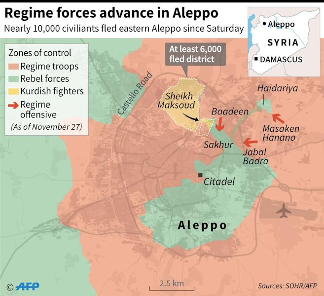 Syrian rebels seized control of eastern Aleppo in 2012 (AFP Photo/)