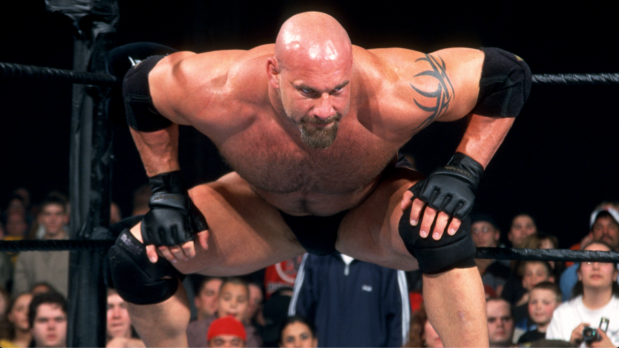 Goldberg is seen during his initial run with WCW in the late 1990s.