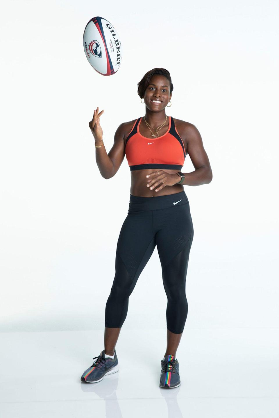 "<p>The 26-year-old rugby player didn't even begin playing the sport until in college at the University of North Carolina in 2012. Though interested before, she spent her high school years focused on track and field. A supporter of the <a href=""https://www.girlsrugbyinc.com/"" rel=""nofollow noopener"" target=""_blank"" data-ylk=""slk:Girls Rugby"" class=""link rapid-noclick-resp"">Girls Rugby</a> organization, Tapper hopes to be a role model for both young women and boys interested in the sport.</p>"