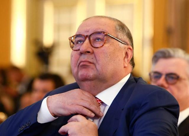 FILE PHOTO: Founder of USM Holdings Usmanov attends session during Week of Russian Business in Moscow
