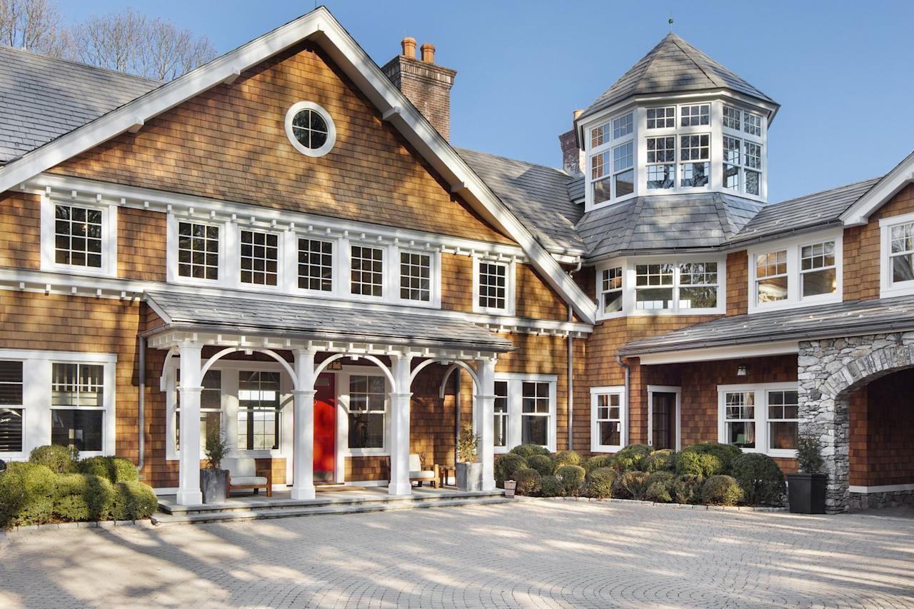 <p>Together, all of the homes have 12 bedrooms, but the main house is listed as having 5+ bedrooms, patio, vegetable garden, pool house, 2-car garage, <em>and </em>another detached 2-car garage. Again...because obviously.</p>