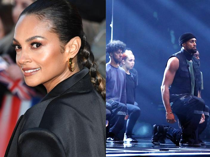 Alesha Dixon and the Black Lives Matter-inspired performance by dance troupe Diversity (Stuart C Wilson/Getty Images/ITV)