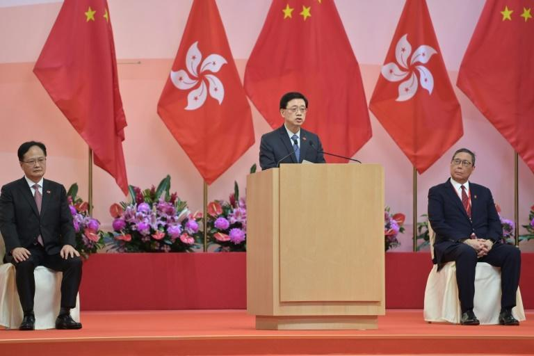 John Lee praised China's imposition of a sweeping national security law in Hong Kong