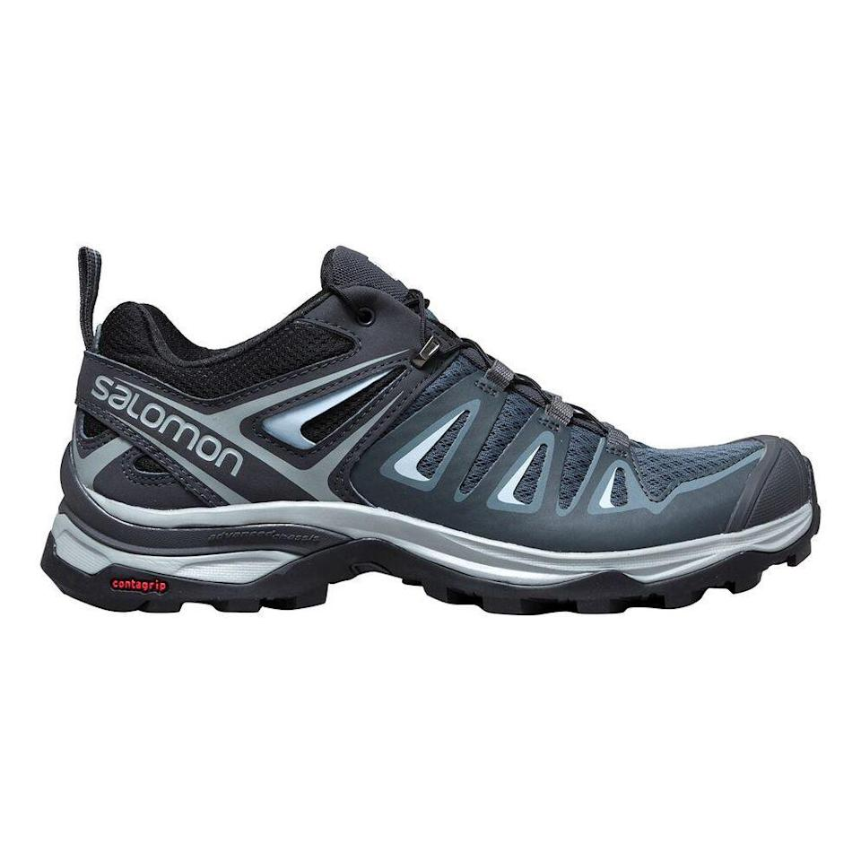 "<p><strong>Salomon</strong></p><p>backcountry.com</p><p><strong>$119.95</strong></p><p><a href=""https://go.redirectingat.com?id=74968X1596630&url=https%3A%2F%2Fwww.backcountry.com%2Fsalomon-x-ultra-2-hiking-shoe-womens&sref=https%3A%2F%2Fwww.prevention.com%2Ffitness%2Fworkout-clothes-gear%2Fg19791835%2Fbest-hiking-shoes-for-women%2F"" rel=""nofollow noopener"" target=""_blank"" data-ylk=""slk:Shop Now"" class=""link rapid-noclick-resp"">Shop Now</a></p><p>Don't be fooled by the X Ultra 3's lightweight design: It's <strong>one of the most supportive hiking shoes on this list</strong>. ""As someone with very <a href=""https://www.prevention.com/beauty/style/a20464706/flip-flop-with-arch-support/"" rel=""nofollow noopener"" target=""_blank"" data-ylk=""slk:high arches"" class=""link rapid-noclick-resp"">high arches</a> I find them comfortable and supportive,"" one Backcountry reviewer explains. ""They are also breathable and have decent traction on rocky terrain."" Plus, the design is tailored specifically to women's feet—it's not just a smaller men's shoe.</p>"