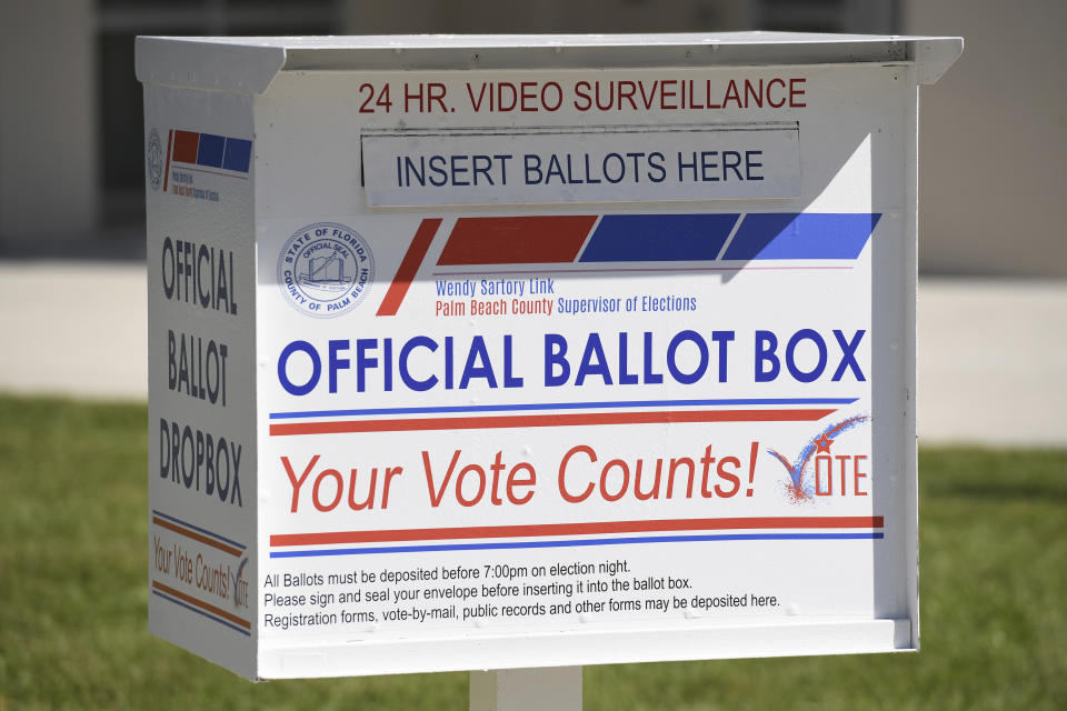 PALM BEACH, FL - AUGUST 18: Vote by mail-in ballot at the Supervisor of Elections office on election day during the 2020 Primary Election on August 18, 2020 in Palm Beach, Florida. Credit: mpi04/MediaPunch /IPX