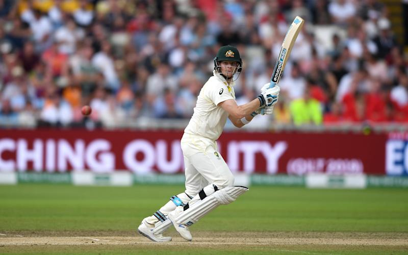 Steven Smith of Australia bats during day three. (Credit: Getty Images)