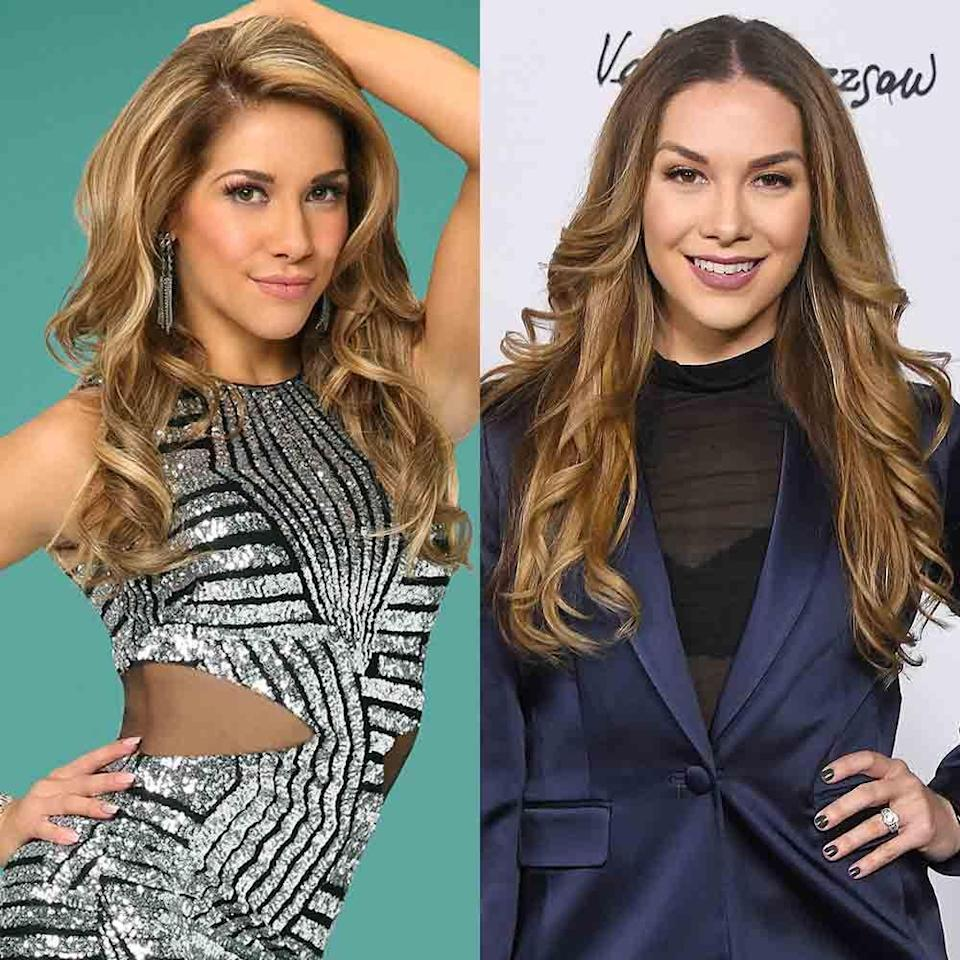 """<p>The <em>So You Think You Can Dance</em> contestant made her way to the ballroom for season 19 of <em>DWTS</em> in fall 2014. She competed on four seasons, taking a break during season 20 to <a href=""""https://people.com/parents/dancing-with-the-stars-allison-holker-pregnant-expecting-baby-stephen-twitch-boss/"""" rel=""""nofollow noopener"""" target=""""_blank"""" data-ylk=""""slk:have her first child"""" class=""""link rapid-noclick-resp"""">have her first child</a> with husband Stephen """"tWitch"""" Boss. She<a href=""""https://www.instagram.com/p/BREgeXShOgi/?hl=en"""" rel=""""nofollow noopener"""" target=""""_blank"""" data-ylk=""""slk:left the show"""" class=""""link rapid-noclick-resp""""> left the show</a> after season 23 and announced this year that she and tWitch were <a href=""""https://people.com/parents/allison-holker-stephen-twitch-boss-expecting-baby-girl/"""" rel=""""nofollow noopener"""" target=""""_blank"""" data-ylk=""""slk:expecting their second child"""" class=""""link rapid-noclick-resp"""">expecting their second child</a> together.</p><p><strong>RELATED:</strong> <a href=""""https://www.goodhousekeeping.com/life/entertainment/a27701548/vanessa-hudgens-twitch-so-you-think-you-can-dance-2019/"""" rel=""""nofollow noopener"""" target=""""_blank"""" data-ylk=""""slk:The Real Reason Why Vanessa Hudgens and tWitch Left 'So You Think You Can Dance'"""" class=""""link rapid-noclick-resp"""">The Real Reason Why Vanessa Hudgens and tWitch Left 'So You Think You Can Dance'</a></p>"""