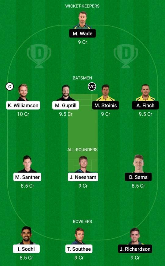 New Zealand vs Australia 3rd T20I Dream11 Prediction Fantasy Cricket Tips Dream11 Team