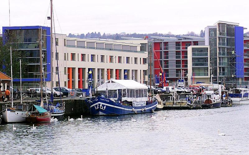 The floating harbour area of Bristol - © SWNS.com