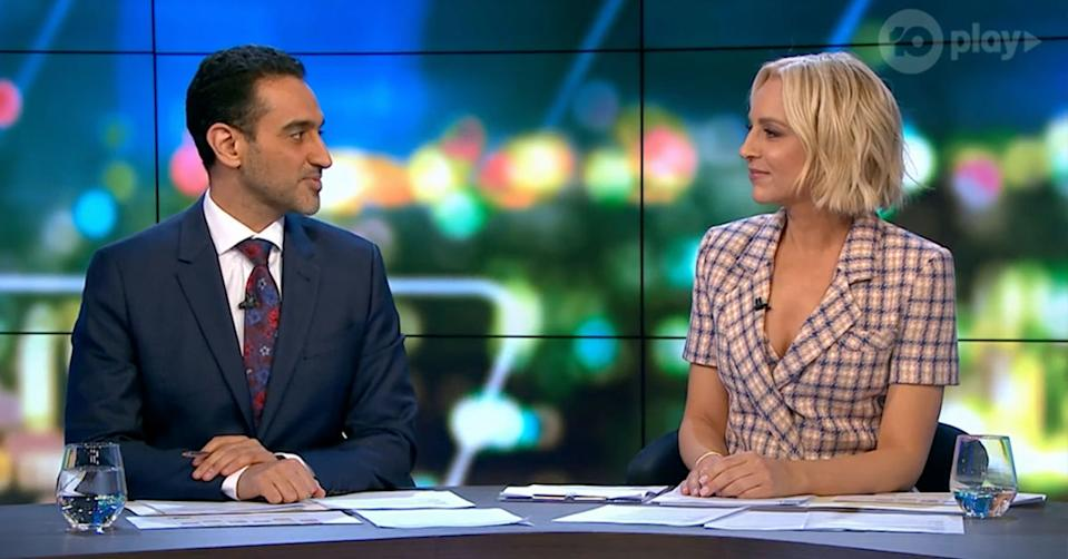Carrie Bickmore rand Waleed Aly on The Project