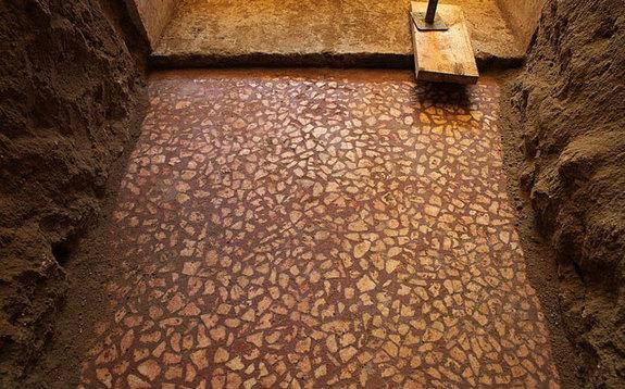 Mosaic Floor Revealed at Alexander the Great-Era Tomb