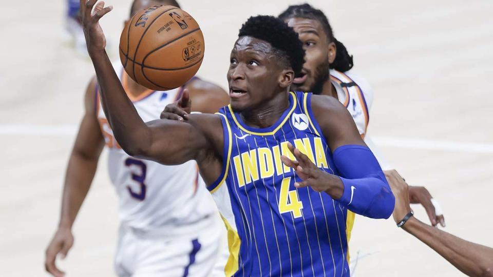 Victor Oladipo, pictured here in action for the Indiana Pacers.