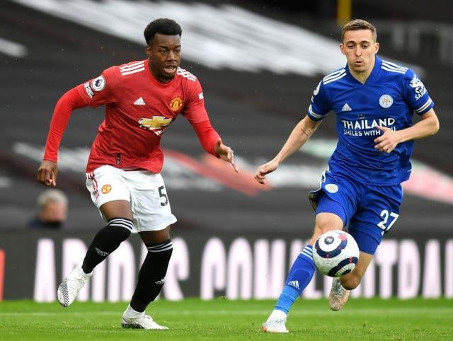 Anthony Elanga, left, made his Manchester United debut on Tuesday