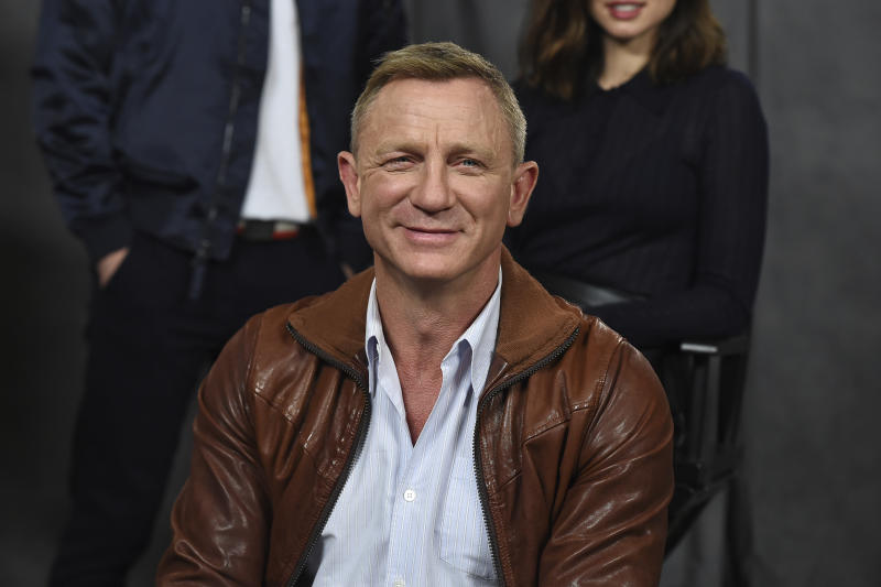 "Daniel Craig attends the ""Knives Out"" photo call at the Four Seasons Hotel on Friday, Nov. 15, 2019, in Los Angeles. (Photo by Jordan Strauss/Invision/AP)"