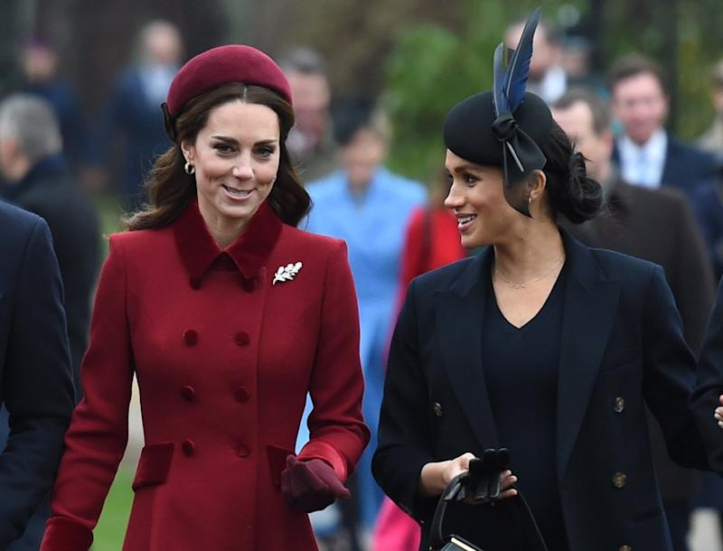 Kate Middleton and Meghan Markle (PA)