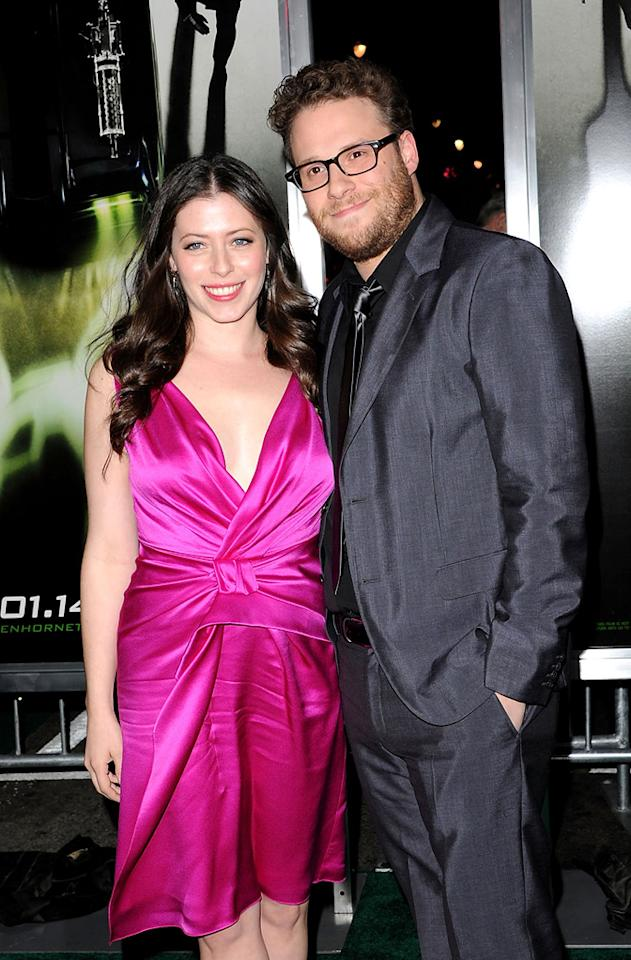 """<b>Seth Rogen & Lauren Miller</b><br>One can only wonder if Jason Segel gained inspiration for """"The Five-Year Engagement""""—which he co-wrote with director Nicholas Stoller—from his longtime bud, former """"Freaks and Geeks"""" co-star Seth Rogen. Rogen, now 30, had been dating longtime girlfriend Lauren Miller for nearly six years before popping the question in September 2010. Miller is said to have nearly given up hope that Rogen would ever propose. The two wed in October, 2011."""