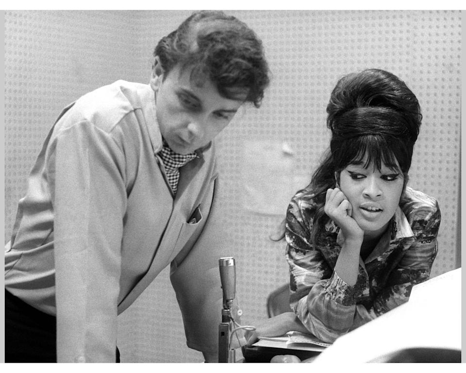 Phil Spector with his second wife, 'Ronette' Ronnie Bennett, whom he held a virtual prisoner - Ray Avery/ Redferns