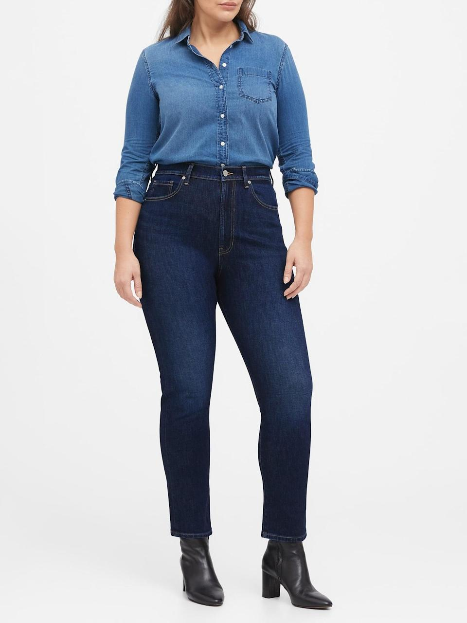 <p>I can honestly say these <span>Banana Republic High-Rise Slim Jeans</span> ($68, originally $99) are my top pick right now.</p>