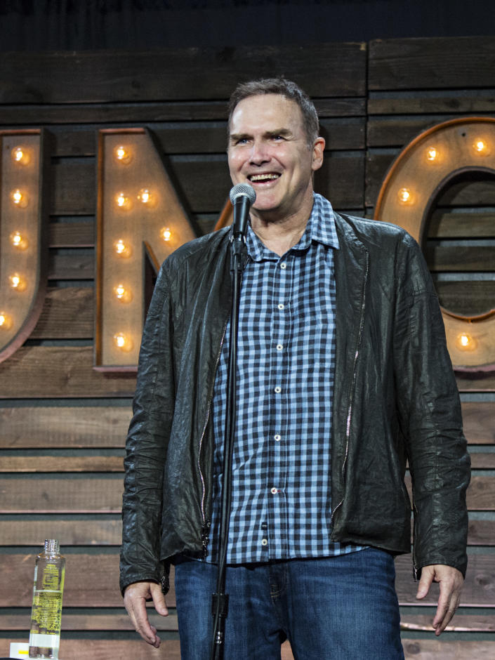 """FILE - Norm Macdonald appears at KAABOO 2017 in San Diego on Sept. 16, 2017. Macdonald, a comedian and former cast member on """"Saturday Night Live,"""" died Tuesday, Sept. 14, 2021, after a nine-year battle with cancer that he kept private, according to Brillstein Entertainment Partners, his management firm in Los Angeles. He was 61. (Photo by Amy Harris/Invision/AP, File)"""