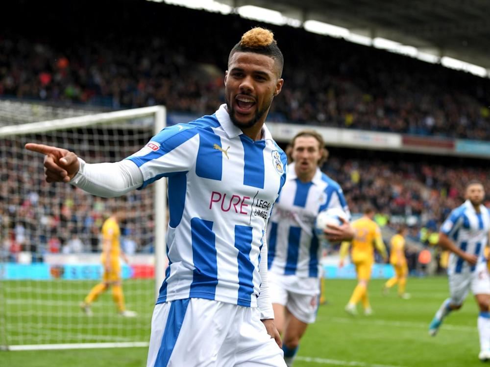 Elias Kachunga gave play-off chasing Huddersfield the lead (Getty)