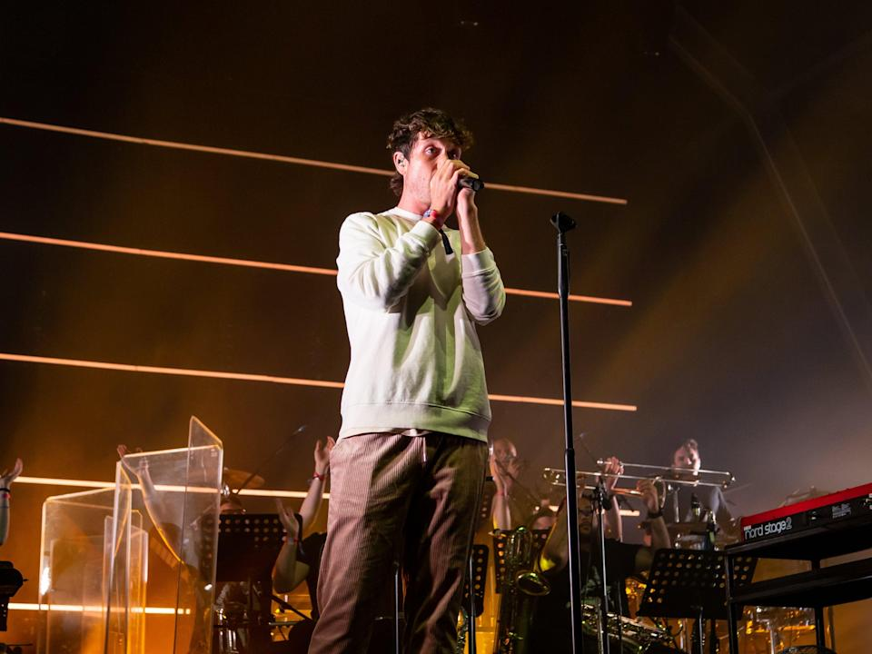 Dan Smith of Bastille performs a headline performance at Standon Calling (Amy Smirk)