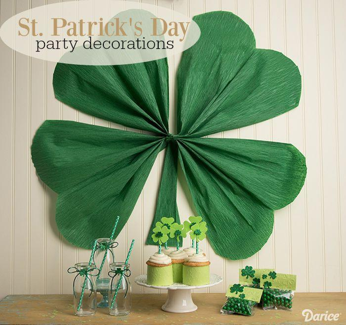 """<p>Why not really go for it and up the wow factor this St. Patrick's Day with this giant shamrock made from crepe paper?</p><p><strong>Get the tutorial at <a href=""""http://blog.darice.com/holiday/spring/st-patricks-day/diy-st-patricks-decorations/"""" rel=""""nofollow noopener"""" target=""""_blank"""" data-ylk=""""slk:Darice"""" class=""""link rapid-noclick-resp"""">Darice</a>.</strong></p><p><a class=""""link rapid-noclick-resp"""" href=""""https://go.redirectingat.com?id=74968X1596630&url=https%3A%2F%2Fwww.walmart.com%2Fsearch%2F%3Fquery%3Dcraft%2Bscissors&sref=https%3A%2F%2Fwww.thepioneerwoman.com%2Fhome-lifestyle%2Fcrafts-diy%2Fg34931626%2Fst-patricks-day-decorations%2F"""" rel=""""nofollow noopener"""" target=""""_blank"""" data-ylk=""""slk:SHOP SCISSORS"""">SHOP SCISSORS</a></p>"""