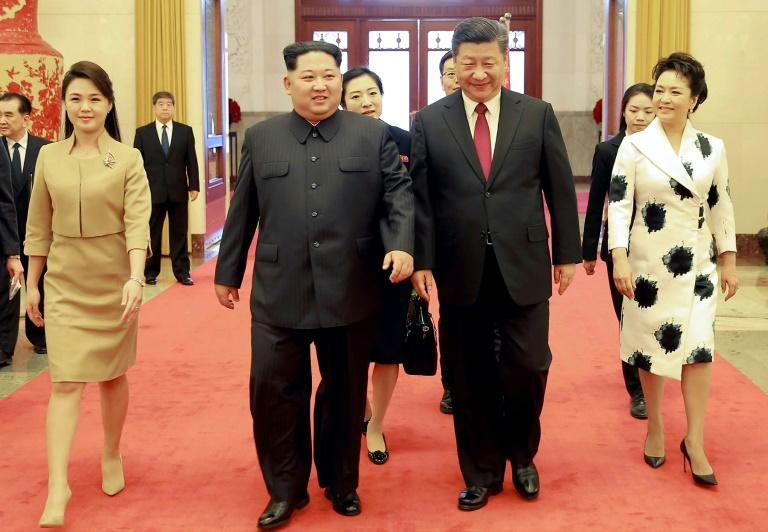 Ri Sol Ju accompanied her husband on a landmark visit to China in March