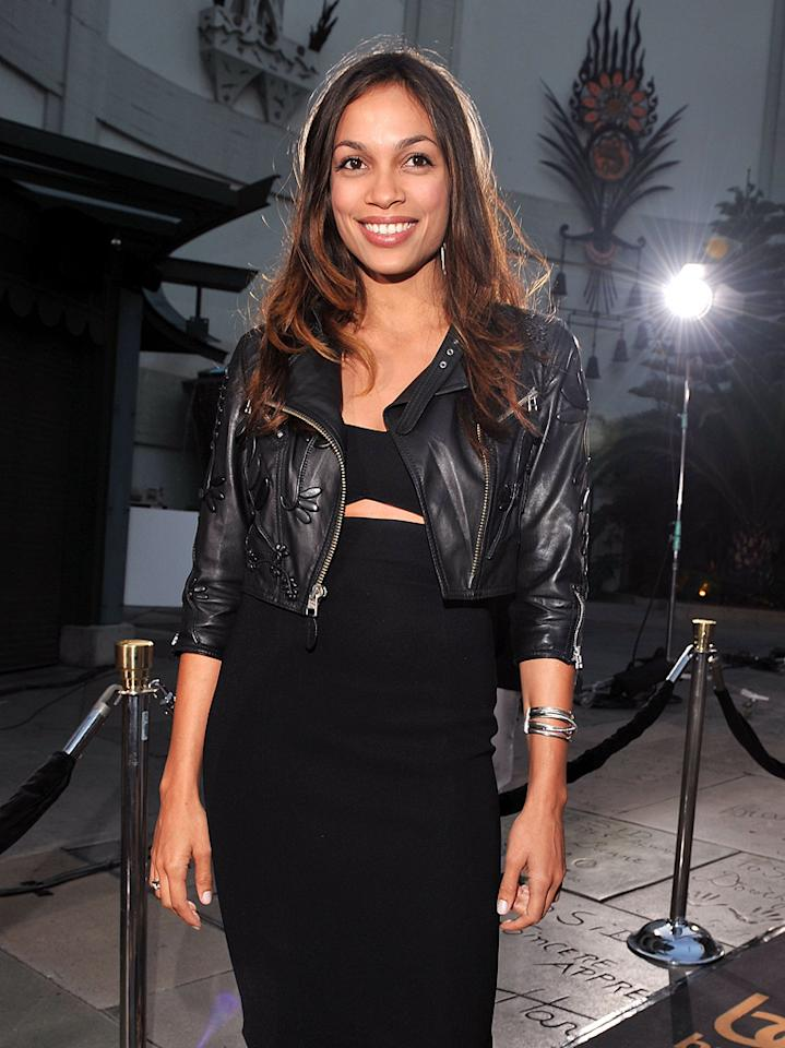 "<a href=""http://movies.yahoo.com/movie/contributor/1800023039"">Rosario Dawson</a> at the Los Angeles premiere of <a href=""http://movies.yahoo.com/movie/1809922951/info"">Bruno</a> - 06/25/2009"