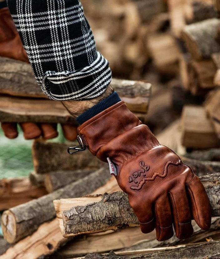 """Gift the handy dad a pair of heavy-duty work gloves that can withstand everything """"from grabbing a burning log out of a fire to ice fishing in -25 degrees."""" (Whew.) $130, Huckberry. <a href=""""https://huckberry.com/store/giver/category/p/60596-4-season-glove-w-wax-coating-exclusive"""" rel=""""nofollow noopener"""" target=""""_blank"""" data-ylk=""""slk:Get it now!"""" class=""""link rapid-noclick-resp"""">Get it now!</a>"""