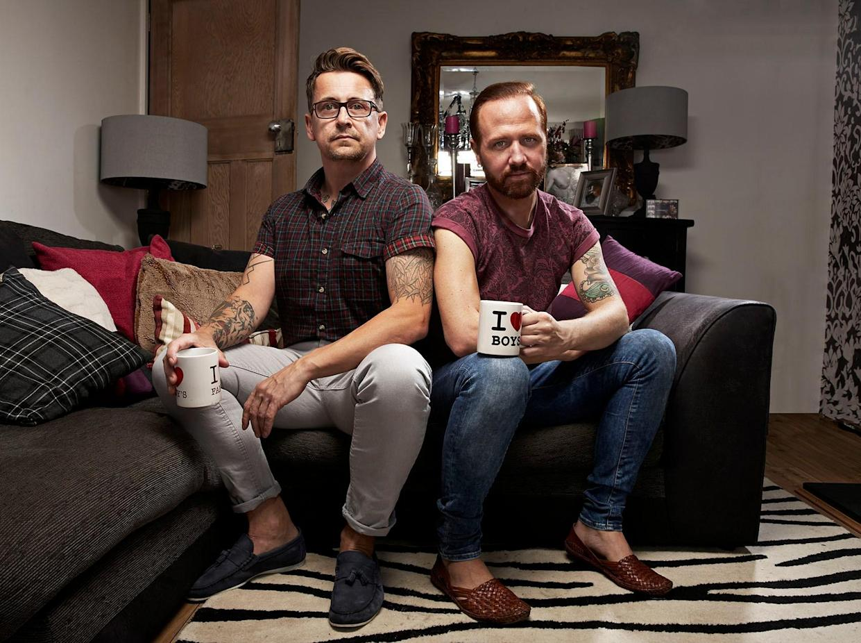 Stephen and Chris on Gogglebox (Channel 4)
