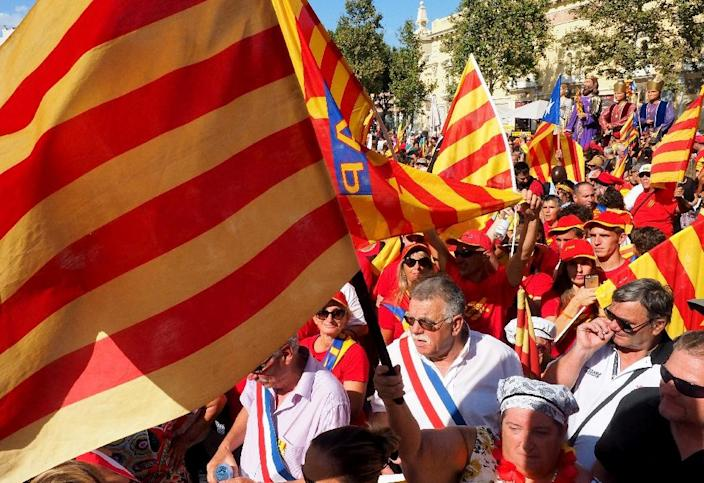 Feelings of Catalan identity on the French side of the border traditionally run less strong than in Spain (AFP Photo/Raymond Roig)