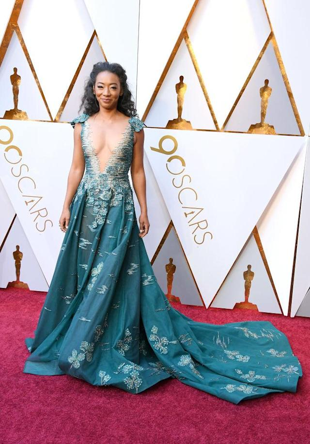 <p>Betty Gabriel attends the 90th Annual Academy Awards at Hollywood & Highland Center on March 4, 2018 in Hollywood, California. (Photo by Steve Granitz/WireImage) </p>