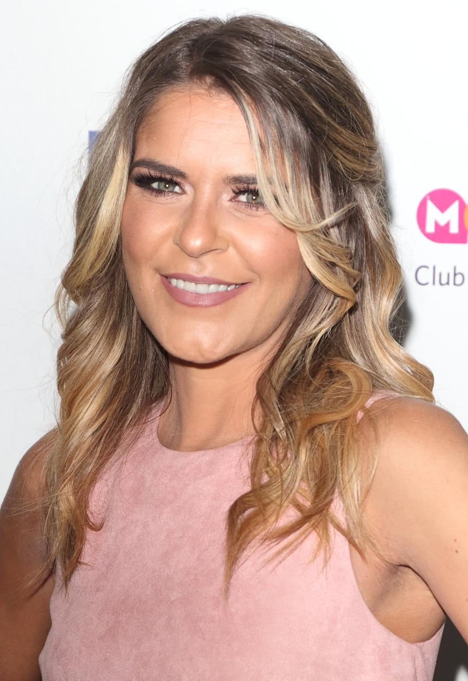 Gemma Oaten on the red carpet at James Ingham's 'Jog-On to Cancer' 7th annual party raising funds for Cancer Research UK, at Proud Embankment (Photo by Keith Mayhew / SOPA Images/Sipa USA)