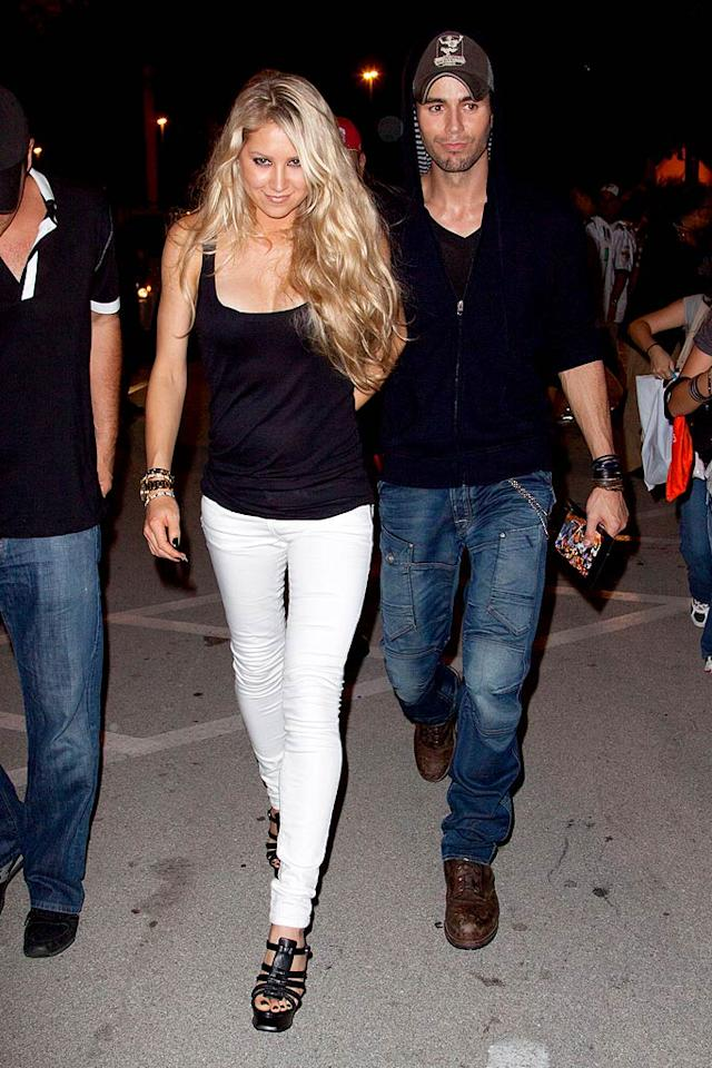 """Longtime lovebirds Anna Kournikova and Enrique Iglesias held hands at the festivities. The tennis ace recently made headlines when she said the couple has no plans to tie the knot. """"What's the point if you're happy anyway? Being eight years down the line it's more than some married couples now,"""" she said. John Parra/<a href=""""http://www.wireimage.com"""" target=""""new"""">WireImage.com</a> - September 26, 2010"""