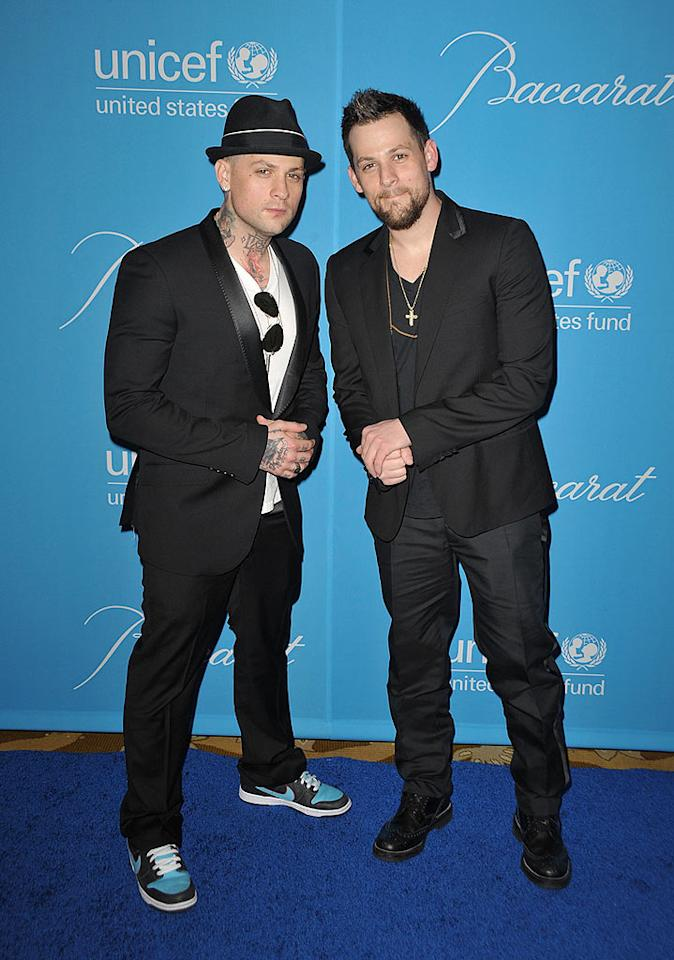 """Good Charlotte rockers Benji and Joel Madden were big fans of the old-school stars who performed at the party. Benji later tweeted: """"Saw Frankie Valli perform 2night @ Unicef. Sounded so good. Just don't make em like they used to."""" John Shearer/<a href=""""http://www.wireimage.com"""" target=""""new"""">WireImage.com</a> - December 10, 2009"""