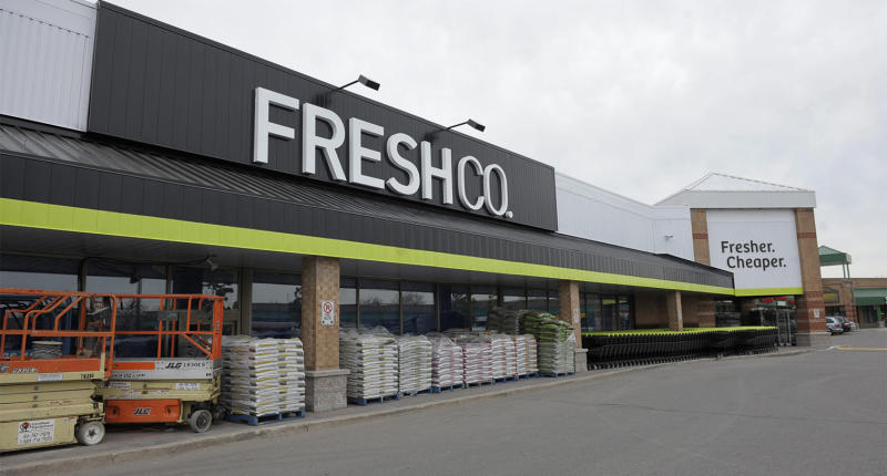 The owner of a FreshCo in Windsor, Ont has written a heartfelt letter encouraging shoppers to practice kindness during COVID-19. (Pictured: A Brampton, Ont. FreshCo. PHOTO BY FRED LUM/ THE GLOBE AND MAIL DIGITAL IMAGE)