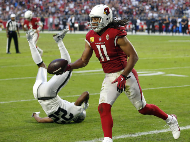 Larry Fitzgerald has shown signs of his old self last week, but Josh Rosen's play has hindered him and will do so in Week 12. (AP Photo/Ross D. Franklin)