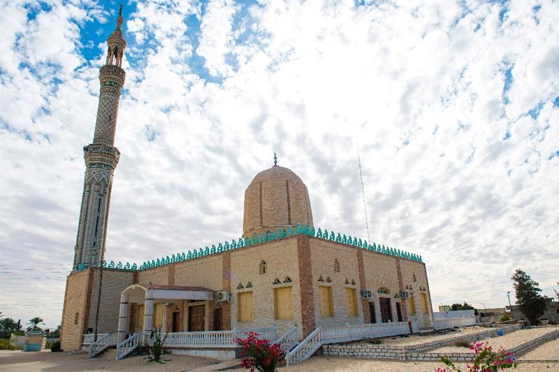 Rawda mosque in Egypt's restive North Sinai province, scene of one of the world's deadliest attacks since 9/11 (AFP Photo/STR)