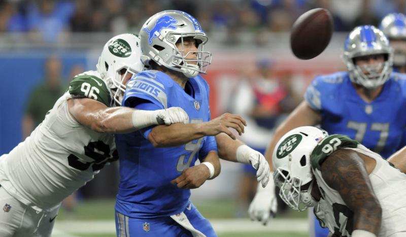 Matt Stafford and the Lions didn't put on much of a show, and plenty of people tuned out. (AP)