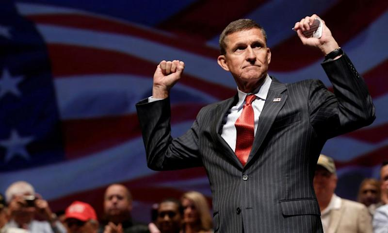 Michael Flynn at a campaign event in Virginia Beach in September 2016.