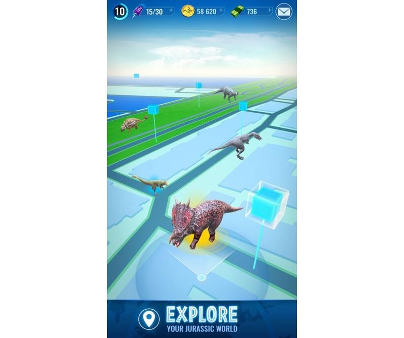 This game is basically 'Jurassic World' meets 'Pokémon Go.'