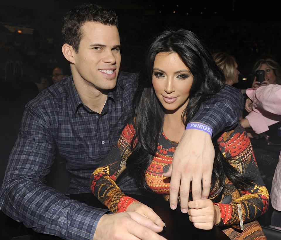 "<p>Perhaps you remember Kim K's 72-day marriage to basketball player Kris Humphries? Within a year of dating, the couple was <a href=""http://www.mtv.com/news/1664525/kim-kardashian-kris-humphries-engagement/"" rel=""nofollow noopener"" target=""_blank"" data-ylk=""slk:engaged"" class=""link rapid-noclick-resp"">engaged</a> and <a href=""https://people.com/tv/everything-to-know-kim-kardashian-kris-humphries-wedding/"" rel=""nofollow noopener"" target=""_blank"" data-ylk=""slk:married"" class=""link rapid-noclick-resp"">married</a>. In fact, their divorce <a href=""https://www.usmagazine.com/celebrity-news/news/kim-kardashian-and-kris-humphries-divorce-timeline-2013224/"" rel=""nofollow noopener"" target=""_blank"" data-ylk=""slk:lasted longer than their whole relationship"" class=""link rapid-noclick-resp"">lasted longer than their whole relationship</a>.</p>"