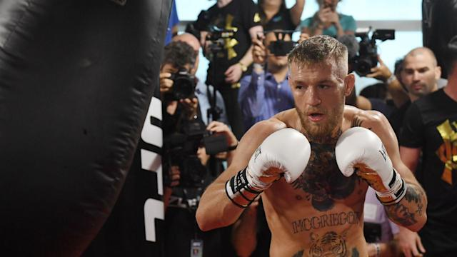 Conor McGregor faces the toughest test of his career against Floyd Mayweather on Aug. 26. (Getty)