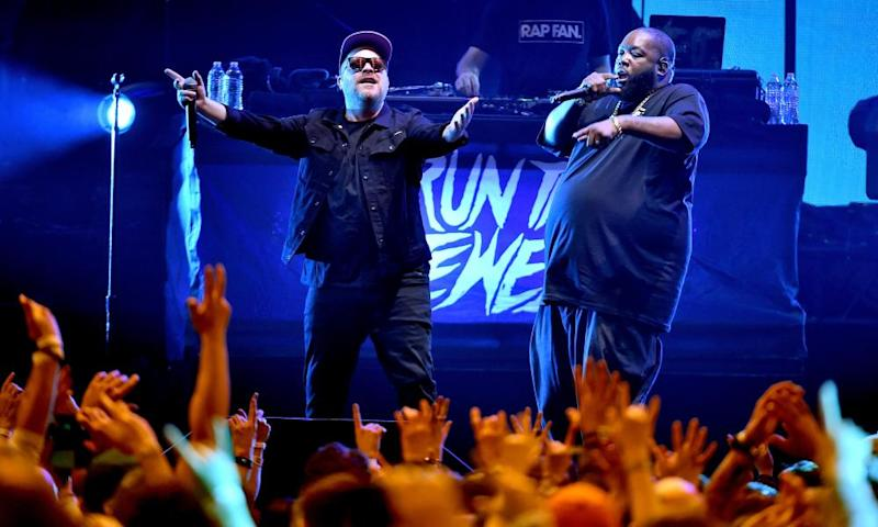El-P and Killer Mike of Run the Jewels on stage in Atlanta, Georgia, in 2019